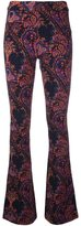 Pierre Balmain flared paisley trousers