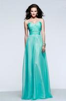 Faviana Ruched Sweetheart Chiffon Evening Gown 7584