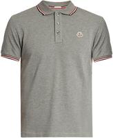 Moncler Short-sleeved cotton-piqué polo shirt