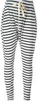Bassike striped drop crotch track pants