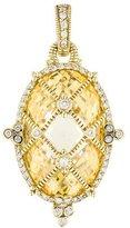 Judith Ripka 18K Caged Citrine & Diamond Pendant