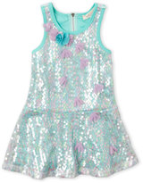 Baby Sara Toddler Girls) Sequined Drop Waist Dress