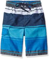 Kanu Surf Little Boys' Toddler Impact Stripe Swim Trunk