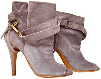Maison Margiela Blue Suede Ankle boots