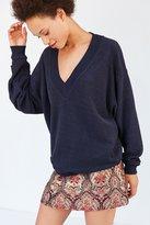 BDG Lisbeth Terry V-Neck Pullover Sweatshirt