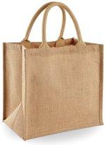 Westford Mill Jute Mini Tote Shopping Bag (14 Litres)