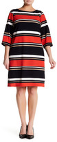 Sandra Darren Striped Knit Sheath Dress (Plus Size)