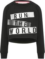 M&Co Minoti run the world slogan cropped sweater