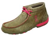 Twisted X Women's Breast Cancer Awareness Driving Moccasin Boots, Neon Pink
