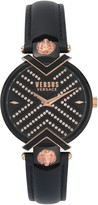 Versace Women's Mabillion Christmas Swarovski Crystal Quartz 2-Hand Leather Strap Watch, 36mm