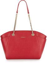 Furla Julia Medium Leather Tote Bag, Ruby