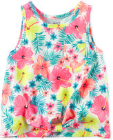 Carter's Floral-Print Tie-Front Cotton Tank, Little Girls (2-6X) & Big Girls (7-16)
