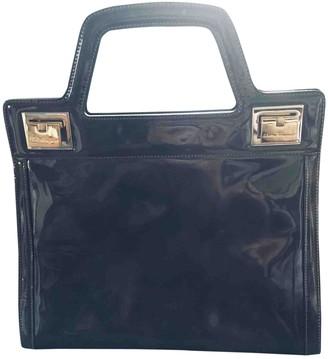Salvatore Ferragamo Grey Patent leather Handbags