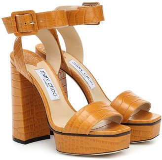 Jimmy Choo Jax 125 leather platform sandals