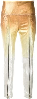 Andrea Bogosian Pietra gradient leather trousers