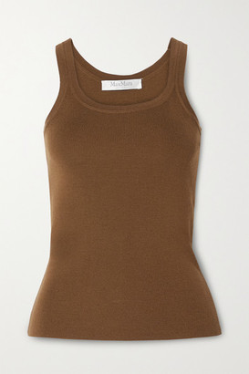 Max Mara Gallo Ribbed Wool Tank - Brown