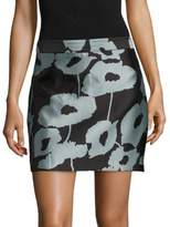 Milly Graphic Modern Mini Skirt