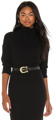 Enza Costa Cropped Long Sleeve Turtleneck