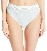 Warner's Women's No Pinches No Problem Cotton Lace Hi-Cut Panty