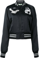 Off-White chest patches bomber jacket