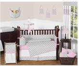 JoJo Designs Sweet Zig Zag 9 Piece Crib Bedding Set