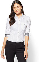 New York & Co. 7th Avenue SecretSnap Madison Stretch Shirt - Petite