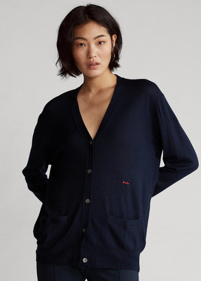 Ralph Lauren Silk-Blend V-Neck Cardigan
