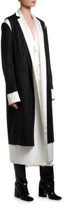 Marni Silk Robe-Lined Wool Coat