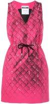 Moschino V-neck drawstring dress - women - Polyester/Triacetate - 38