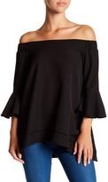 Gracia Off-the-Shoulder Ruffle Sleeve Blouse