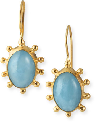 Dina Mackney Aquamarine Pinwheel Earrings