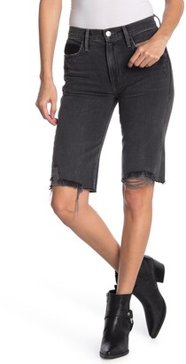 Frame Le Twisted Distressed Baggy Shorts