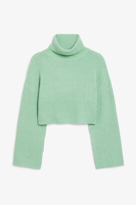 Monki Cropped heavy knit sweater