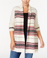 Style&Co. Style & Co. Plus Size Jacquard Open Cardigan, Only at Macy's