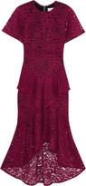 Rebecca Vallance Tiered guipure lace midi dress