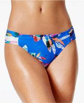 LaBlanca La Blanca Floral-Print Shirred Hipster Bikini Bottoms