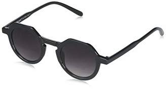 Morgan A.J. Sunglasses Unisex-Adult Old Coggers 88503-BLK Round Sunglasses