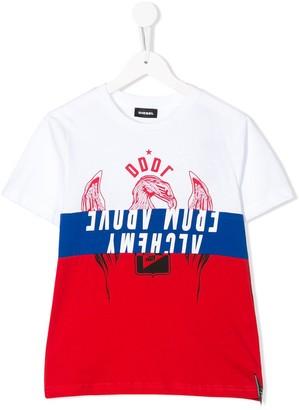 Diesel colour block T-shirt