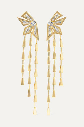 Stephen Webster Dynamite Cascade 18-karat Gold Diamond Earrings