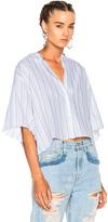 Acne Studios Bridget Shirt in Blue,Stripes.