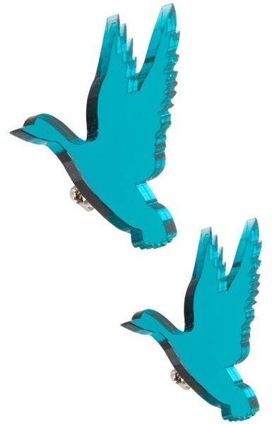 Bena Flying duck brooch set