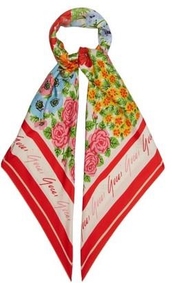 Gucci X Ken Scott Floral-print Silk Scarf - Multi
