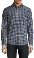 Slate & Stone Gingham Spread Collar Sportshirt