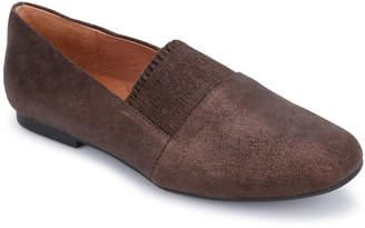Gentle Souls Eugene Ruffle Metallic Leather Slip-On Loafers