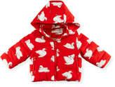 Stella McCartney Hubert Swan-Print Puffer Jacket, Size 12-36 Months
