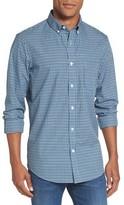 Nordstrom Men's Regular Fit Non-Iron Mini Check Sport Shirt