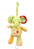 Star Print Baby Elephant Pull-String Toy