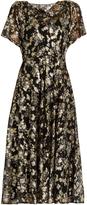 Valentino Boat-neck floral fil coupé silk-blend dress