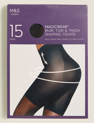 Marks and Spencer 15 Denier Magicwear Shine Body Shaper Tights