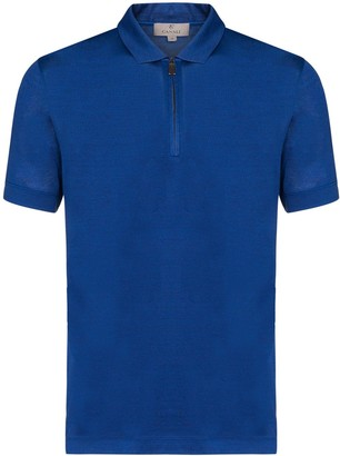 Canali Zip-Up Polo Shirt